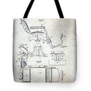 Vintage Barber Chair Patent Tote Bag