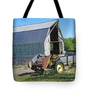 Vintage Barn And Equipment Tote Bag