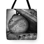 Vintage Baseball And Glove Tote Bag
