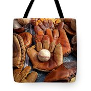 Vintage Baseball Tote Bag by Art Block Collections