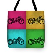 Vintage Bike Pop Art 1 Tote Bag
