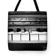 Vintage Black Tunes Tote Bag