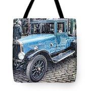 Vintage Blue Car 2 Tote Bag