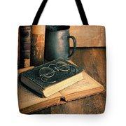 Vintage Books And Eyeglasses Tote Bag
