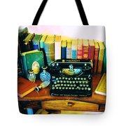 Vintage Books And Typewriter Tote Bag