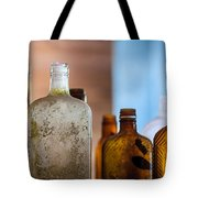 Vintage Bottles Tote Bag by Adam Romanowicz