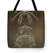 Vintage Braces Patent Tote Bag