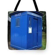 Vintage British Blue Police Phone Box Tote Bag