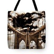Vintage Brooklyn Bridge Tote Bag