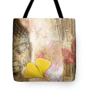 Vintage Buddha And Ginkgo Tote Bag