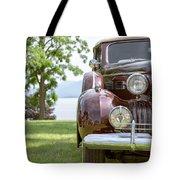 Vintage Caddy At Lake George Tote Bag