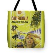 Vintage California Travel Poster Tote Bag