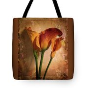 Vintage Calla Lily Tote Bag by Jessica Jenney
