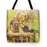Vintage Camera And Case Tote Bag