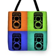 Vintage Camera Pop Art 1 Tote Bag by Naxart Studio