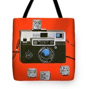 Vintage Camera With Flash Cube Tote Bag