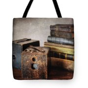 Vintage Cameras And Books Tote Bag