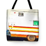 Vintage Camping Trailer Pop Tote Bag by Edward Fielding