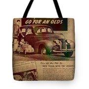 Vintage Car Advertisement 1939 Oldsmobile On Worn Faded Paper Tote Bag