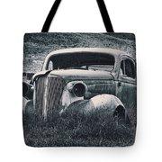 Vintage Car At Bodie Tote Bag by Kelley King