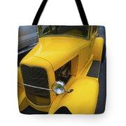 Vintage Car Yellow Tote Bag