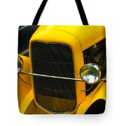 Vintage Car Yellow Detail Tote Bag