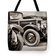 Vintage Cars Tote Bag