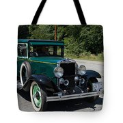 Vintage Cars Green Chevrolet Tote Bag