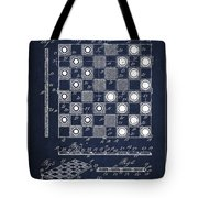 Vintage Checker And Chess Board Drawing From 1921 Tote Bag