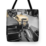 Vintage Checker Cabs Tote Bag
