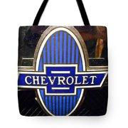 Vintage Chevrolet Logo Tote Bag