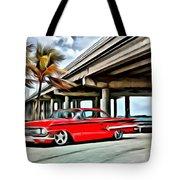 Vintage Chevy Impala Tote Bag