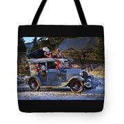 Vintage Christmas Car Tote Bag