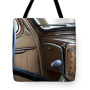 Vintage Chrysler Auto Dashboard And Steering Wheel Poster Look Tote Bag