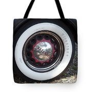 Vintage Chrysler Automobile Wide Whitewall Tire Poster Look Usa Tote Bag