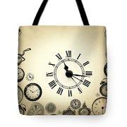 Vintage Clocks Tote Bag