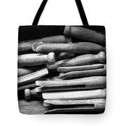 Vintage Clothespins Tote Bag