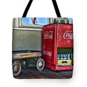 Vintage Coca-cola And Rocket Wagon Tote Bag