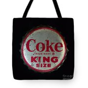 Vintage Coca Cola Bottle Cap Tote Bag