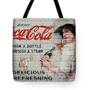 Vintage Coke Sign Tote Bag
