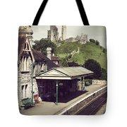 Vintage Corfe Castle Tote Bag