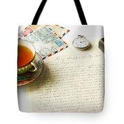 Vintage Correspondence Tote Bag