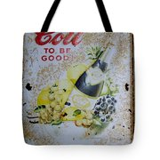 Vintage Cott Fruit Juice Sign Tote Bag
