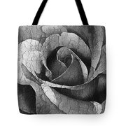 Vintage Cracked Rose Tote Bag