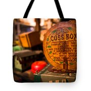 Vintage Cuss Box Tote Bag