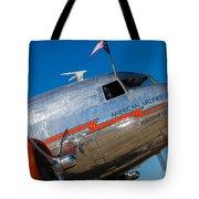 Vintage Dc-3 Airplane Tote Bag