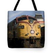 Vintage Diesel Locomotive Tote Bag