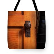 Vintage Door And Stairs Tote Bag