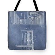 Vintage Door Lock Patent Tote Bag