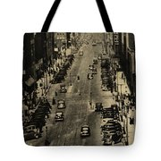 Vintage Downtown View Tote Bag